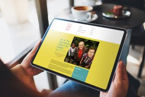 ThOP-Internetseite auf dem iPad